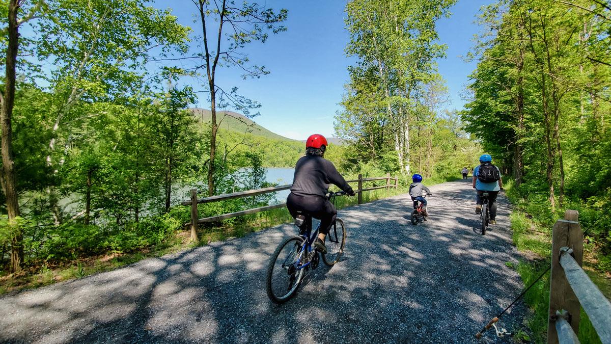 People biking in boiceville