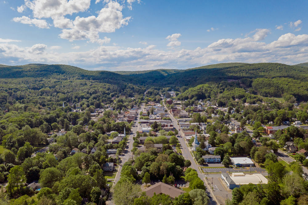 Aerial view of Ellenville