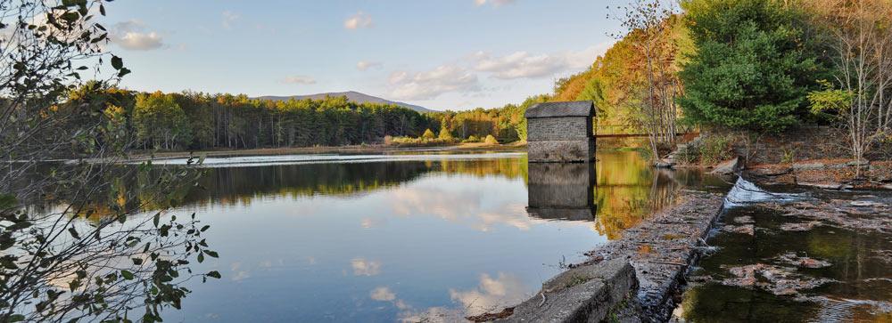 Lake in woodstock