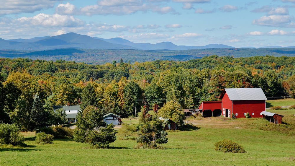 View of catskill mountains